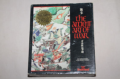The Ancient Art Of War PC IBM MS DOS Broderbund 1985 Big Box Game with manuals
