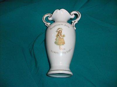 Holly Hobbie, By Sands. Tall Handled Vase, Thoughtfulnes . . .as New