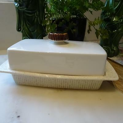 Poole Pottery England Lidded Butter Dish - Oven to Table Ware - Microwave safe