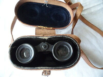 Antique vintage Colmont FT Serie Veco Binoculars with old Leather case WWll