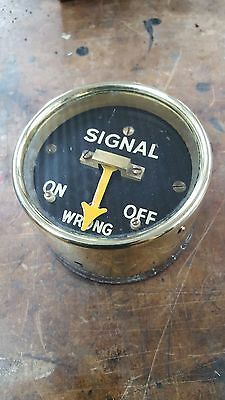 """Sykes Brass Cased Repeater """"Signal"""" On/Off. Black Face."""