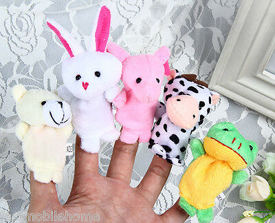 10Pcs Finger Puppets Cloth Doll Baby Educational Hand Cartoon Animal Toy Gift N