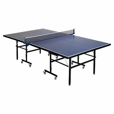 Folding Indoor Outdoor Table Tennis Ping Pong Table Blue Full Size Adjustable UK