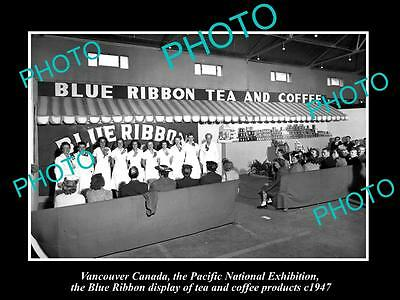 Old Historic Photo Of Canada Industy, Vancouver, Blue Ribbon Tea & Coffee 1947