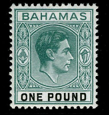 BAHAMAS-1943 £1 Blue-Green & Black Sg 157a UNMOUNTED MINT V13970