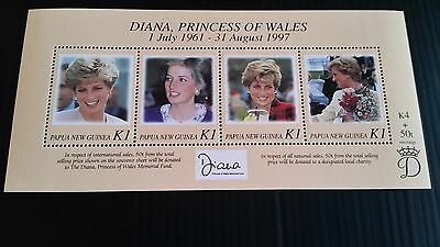 Papua New Guinea  1998 Sg Ms829 Princess Of Wales  Mnh