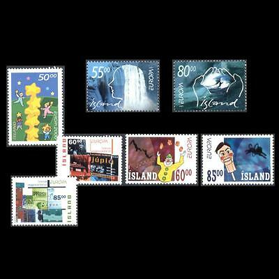 Iceland 2000-2003 Europa Cept 4 Different Mnh Sets