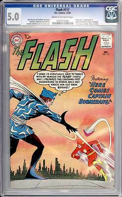 Flash # 117  First appearance Captain Boomerang !   CGC 5.0 scarce book !