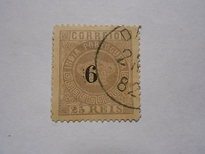 Timbre Inde Portugaise  N 80 Oblt
