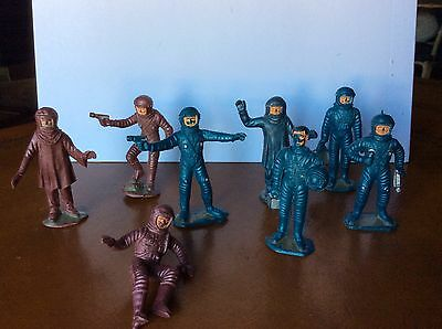 Rare Vintage Spacemen Plastic Figures + Comansi Ovni Gerry Anderson Ufo Spanish