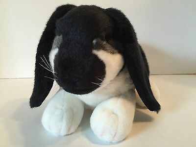 Russ Yomiko Classics LOP EAR BUNNY Plush Rabbit Black & White Large 14""