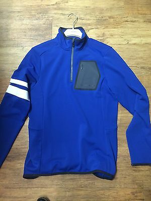 J Lindeberg Mid Armstripe T Neck Mid Layer - Strong Blue Size Large Brand New