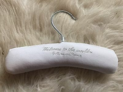 Newborn Baby's Mamas And Papas White Padded Coat Hanger