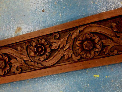 Victorian carved wood rose architrave frieze pack of 5 replica, stock clearance