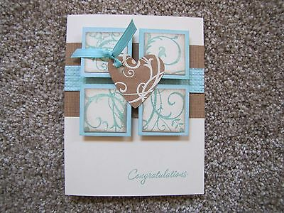 Elegant Vintage Birthday/Sympathy/Congratulation Card Kit 4 w/Some Stampin Up