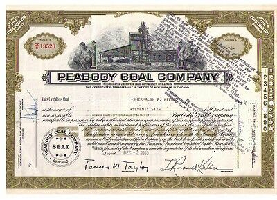 Aktie: Peabody Coal Company - less than 100 shares (76) von 1959
