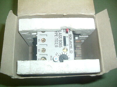 Square D 9065 Td 2.6 .................overload 2.6-3.7 Amp Overload New Packaged