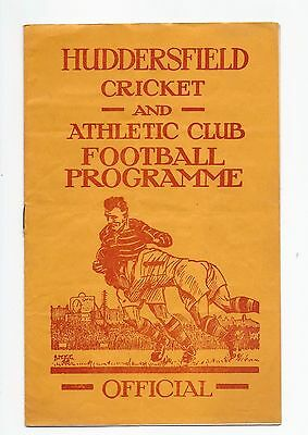 Huddersfield V York 1954 Rugby League Programme England
