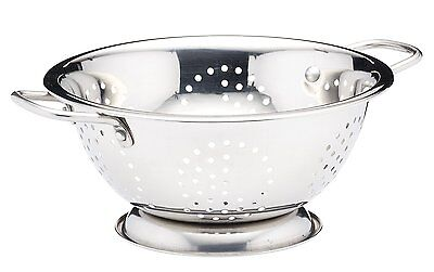 Stainless Steel Colander With 2 Handle Deep Spaghetti Pasta Salad Strainer