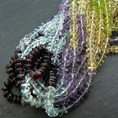 "Multi Stone 5 Colour Button Beads 15"" Strand"
