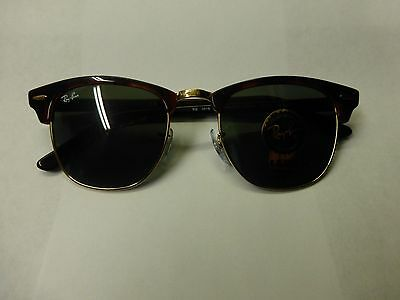 ray ban clubmaster polarized tortoise  Ray Ban Clubmaster RB 3016 Tortoise W0366 G15 Sunglasses Authentic ...