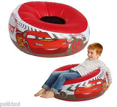 Disney Pixar Cars Inflatable Chair Pouffe with Flock Seat Easy to Inflate BNIB