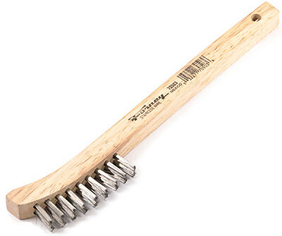 """Forney Industries 70503 Curved Handle Wire Brush-8-5/8"""" SS WIRE BRUSH"""
