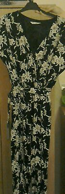 Black with white flowers miss selfridge size 12 jumpsuit
