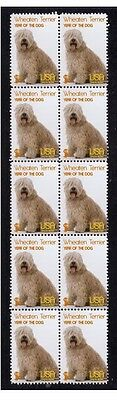 Wheaten Terrier Strip Of 10 Mint Year Of Dog Stamps 2