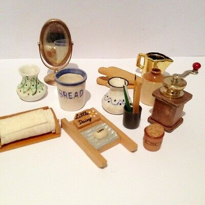12th scale kitchen items - dolls house mixed lot
