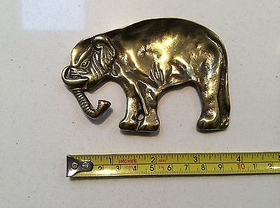 VINTAGE BRASS ELEPHANT - PIN DISH by PEERAGE of ENGLAND