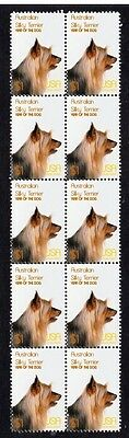 Silky Terrier Year Of Dog Strip Of  10 Mint Stamps 1