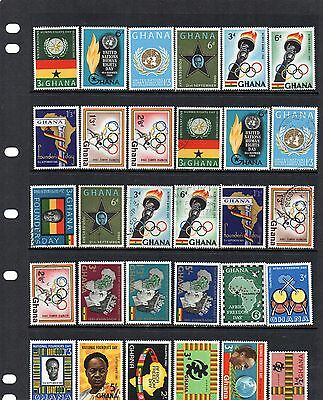Ghana early issues mint and used (lot 1)