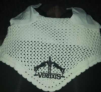 Veredus Crochet FLY VEIL Hood ears large with crystals white