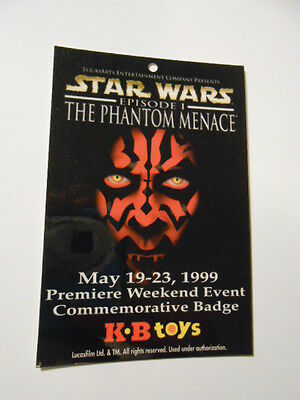 Star Wars Darth Maul KB toys limited issued card 1999