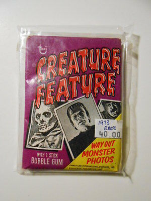 Universal Monsters rare Horror cards sealed pack 1973