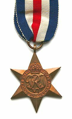 Original WW2 France and Germany Star medal with original ribbon