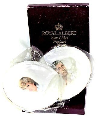 Royal Albert Pair Commemorative Plates Prince Charles Lady Diana Marriage 1981