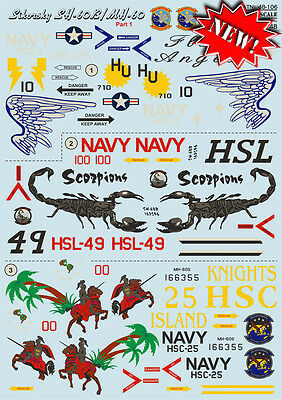 Print Scale - 48-106 - Decal for Sikorsky SH-60B/MH-60, Part 1 - 1:48  ** NEW **
