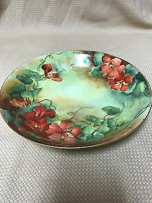 Antique GDA Limoges Hand Painted Collector Bowl France