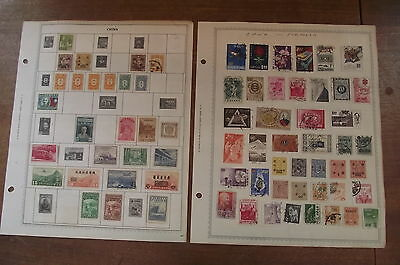 Antique Chinese Stamps - Used - China Postage Stamps - 2 Pages / 4 sides !