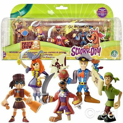 New Scooby Doo Pirates 5 Figure Pack Shaggy Fred Velma Daphne Official