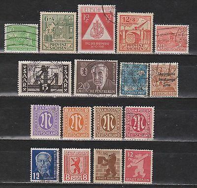 Germany / Several Issues - 17 Different Stamps - Mng/mh/used