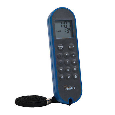 TimeStick® waterproof one-handed count up / down sports / gym timer (Blue)