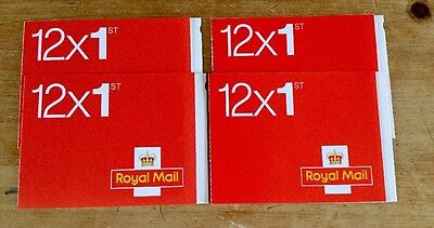 4 Books of 12 First Class (1st) Stamps