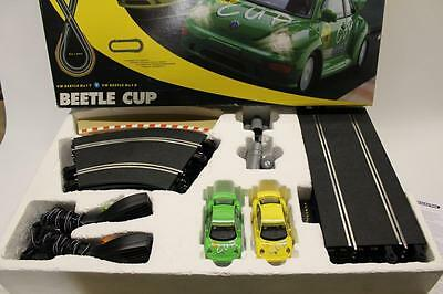 Scalextric Beetle Cup Race SET BOXED Track Cars Controller Transformer FUN