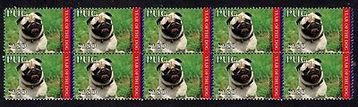 Pug Year Of The Dog Strip Of 10 Mint Stamps 2