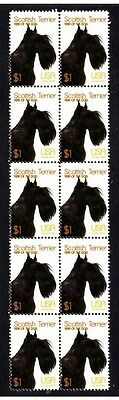 Scottish Terrier Year Of Dog Strip Of 10 Mint Stamps 2