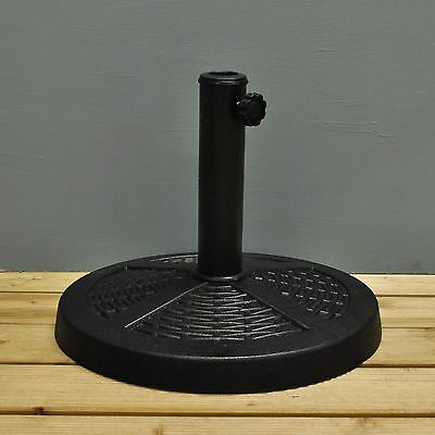 Rattan Effect Metal Parasol Stand Base by Kingfisher