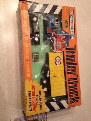 Motorific 1968 Ideal Toy Corp Trailer Truck Boxed With Instructions And Load